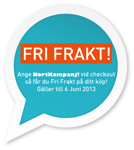 kortkampanj! Fri frakt fram till 6 juni 2013